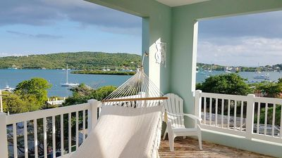 View from the covered terrace of your Sea Turtle Studio!