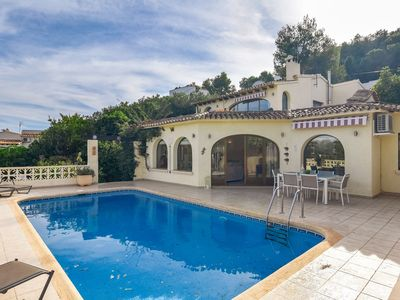 Photo for Beautiful 8-person villa in Moraira, near centre, sea and beach, very nicely furnished