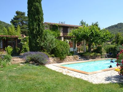 Photo for Lovely renovated historic farmhouse with pool  in private location