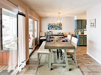 Dining Area - Gather for festive vacation meals at the 6-person dining table.