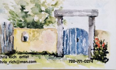 My Watercolor Painting of the front gate