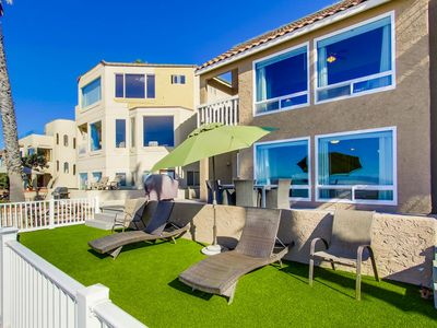 Photo for OCEANFRONT Duplex + Private Oceanfront Expansive Deck!