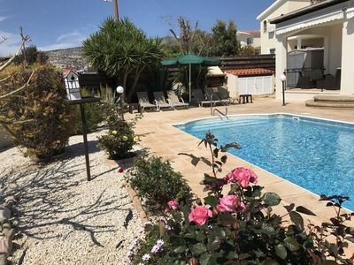 Photo for Detached Villa with private pool and beautiful gardens, fully air conditioned.