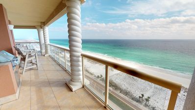 Photo for Luxurious 3BR SkyHome with Panoramic Ocean Front Views, Steps From The Beach!