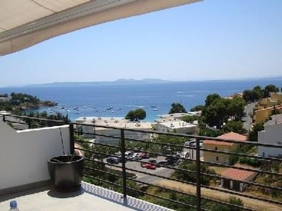 Photo for House sea view with pool and direct access to the white sand beach of Almadra.