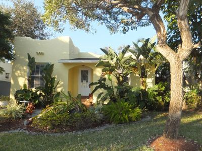 Photo for Charming home with private pool and patio within walking distance from downtown