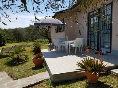 Photo for charming completely renovated country house, large garden, secluded location