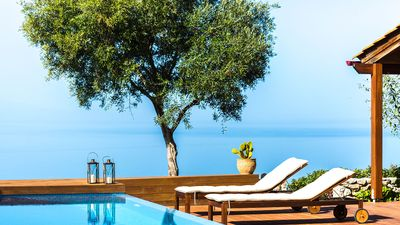 Photo for A Magical hilltop retreat overlooking Chania city and the Cretan sea!