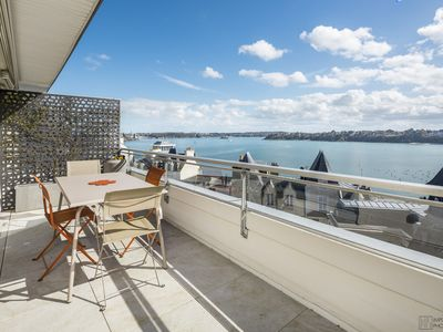 Photo for VERY BEAUTIFUL APARTMENT EXCEPTIONAL SEA VIEW FULL CENTER DINARD