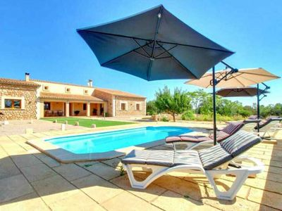 Photo for Country house in Algaida for 6 people, Mallorca, 3 rooms,  Private pool. BBQ -00006- - Free Wifi
