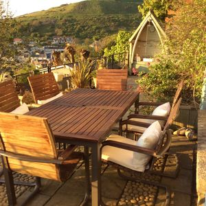 Photo for Stunning sea views over Chesil Beach in charming sea cottage- Pebble Watch
