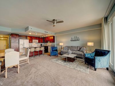 Photo for Laketown Wharf 302 - Steps from Kiddie Pool - Completely remodeled