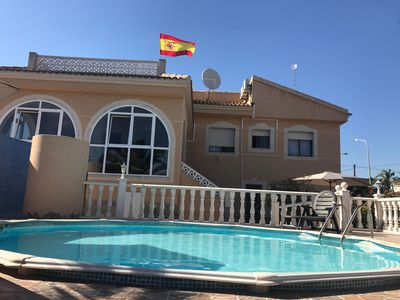 Photo for Beautiful villa with large pool and independent studio in ciudad quesada Wifi