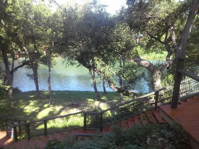 Photo for 4 Bedrm House On Guadaupe River Shaded By 100 Year Old Oaks, Private & Relaxing