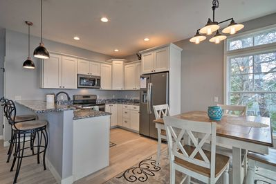 The spacious interior is beautifully appointed with 5-star amenities.