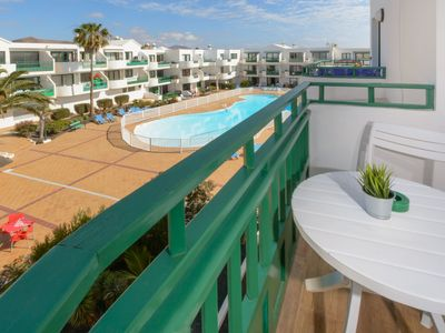 Photo for Beautiful Studio Apartment on the Beach with Balcony, Pool and Terrace