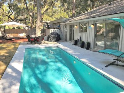 Photo for New Rental - Spectacular Two Bed Home in Sea Pines with Private Pool and Hot Tub