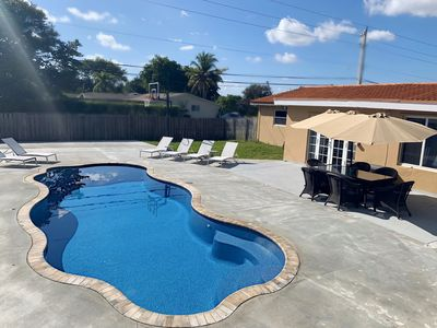 Photo for Single 4 bedroom Family House with Pool and Basketball court