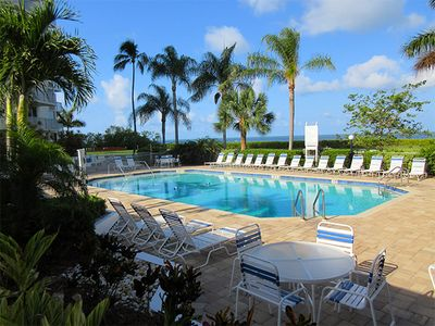 Photo for Escape To Beachfront Getaway Vacation Condo At Bargain Price! Heated Resort Pool! Tennis Courts!
