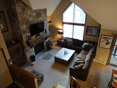 Photo for True Ski In/Ski Out 3 Bedroom End Unit Directly On Mount Snow