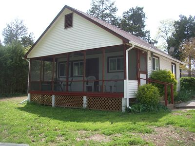 Photo for Clean, updated 2-bedroom cottage w/ gorgeous Norfork lake view & screened porch