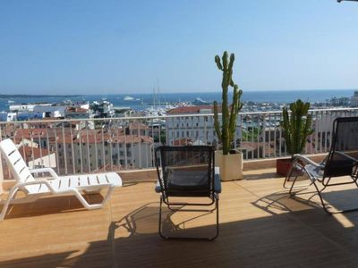 Photo for LARGE APARTMENT LUXURY LAST FLOOR PERFECT PANORAMIC SEA VIEW VERY CLOSE WITH LARGE SOUTH TERRACE
