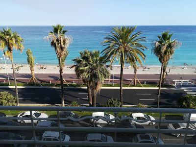 Photo for Beautiful 5 bedroom apartment with sea view Promenade des Anglais