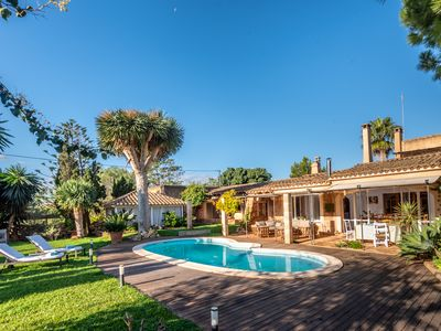 Photo for Unique Finca Son Tous near Santanyí with private salt water pool and sea view