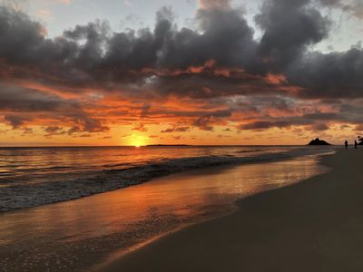 Kailua beach sunrise.  Photo credit: Martha Rust #unfiltered #happyguests