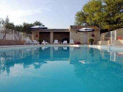 Photo for Uzès farmhouse with pool 600m of the promo cv from June 29 to July 6 71 € per night