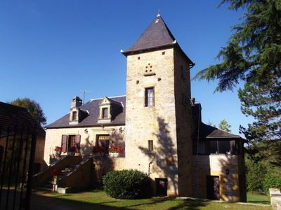 Photo for Near Sarlat: Amazing 18th. c. property, 2.5 acres private garden, heated pool