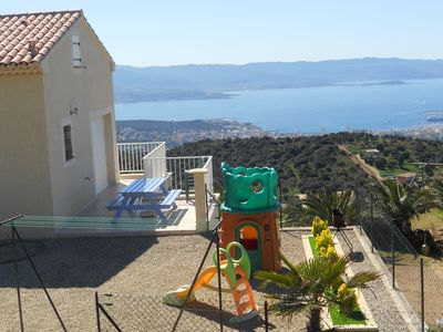 Photo for A 10 Mn Des Plages. Panoramic views of the Gulf of Ajaccio and the Gulf of lava