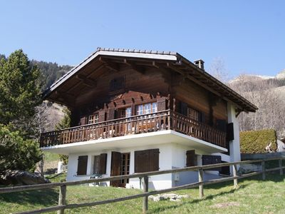 Photo for This ground floor of a typical chalet is situated in the quiet region of Patier. It can accomodate 2