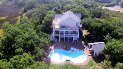 Photo for Spectacular Sound/Ocean View! Large Saline Pool, Elevator, Golf Cart
