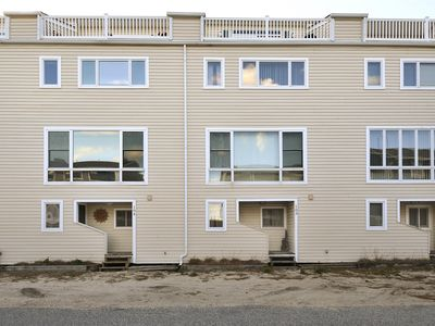 Photo for FREE DAILY ACTIVITIES!! Located Semi-Oceanfront with views from the roof top deck, features include 3 bedrooms+ loft, 3.5 bath multi level townhouse