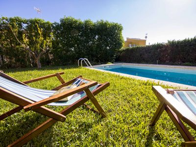 Photo for Bright, cozy house in Sa Rapitá, pool, garden, wifi, near the beach Es Trenc