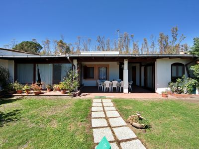 Photo for 50 steps from the beach, villa with garden in residence