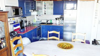 Photo for Homestay 2mn beaches, sea view, private parking, WIFI,