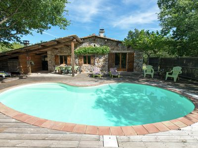 Photo for Lovely house in Ardeche, of ecological materials, with private swimming pool