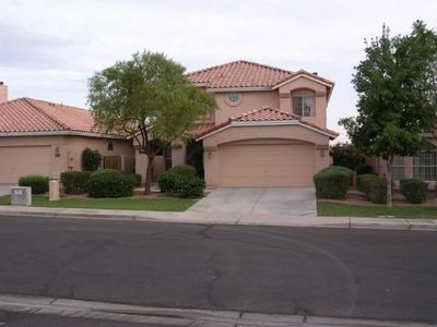 Front view of the Home. Front yard is professionally landscaped by HOA.
