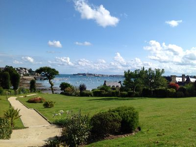 Photo for Nice duplex apartment in an ancient priory, access to the beach through the park