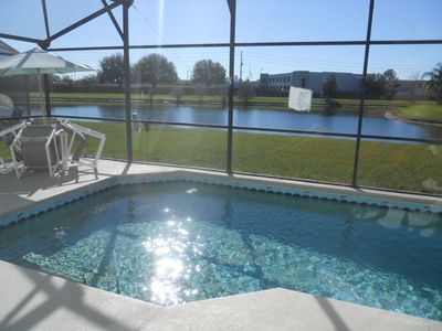 Photo for Lakeview Home-Private South Facing Pool, WiFi, Games Room-close to Disney