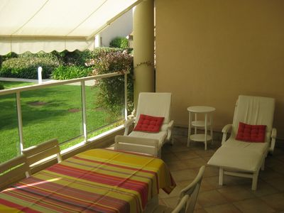 Photo for Standing Antibes Apt 2 rooms Seaside beginning Cap d'Antibes with pool