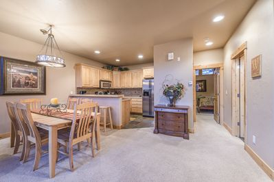Dining Area - Dining Area- Large table with seating for eight guests. Plus additional seating at the kitchen island.