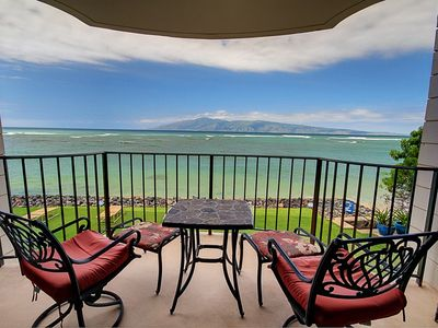 Photo for Condo-Complete Ocean View from Lanai & Living Room; Pool! Steps from the Ocean!