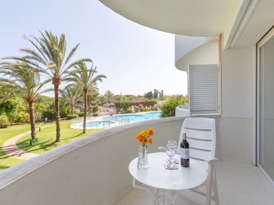 "Photo for Charming Apartment ""Excepcional estudio Playa Real"" Close to the Beach with Sea View, Wi-Fi, Air Conditioning, Balcony & Garden"