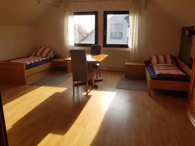 Photo for 2 x 2 beds. for 4 people, very close to Erlangen, Nuremberg, 3km to the A3, quiet