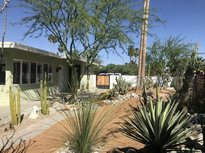Photo for Desert Oasis Mid Century Home - Spacious 2 bedroom 2 bath Minutes to Downtown!