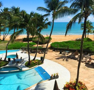 Photo for Absolutely Stunning View From Our Beach Front Villa on the Rio Mar Resort