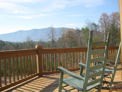 Enjoy the View from the Rocking Chairs on our Deck